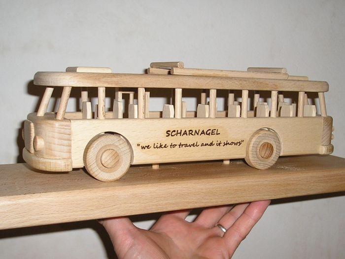Autobus mit text Gravur - Geschenk Spielzeug
