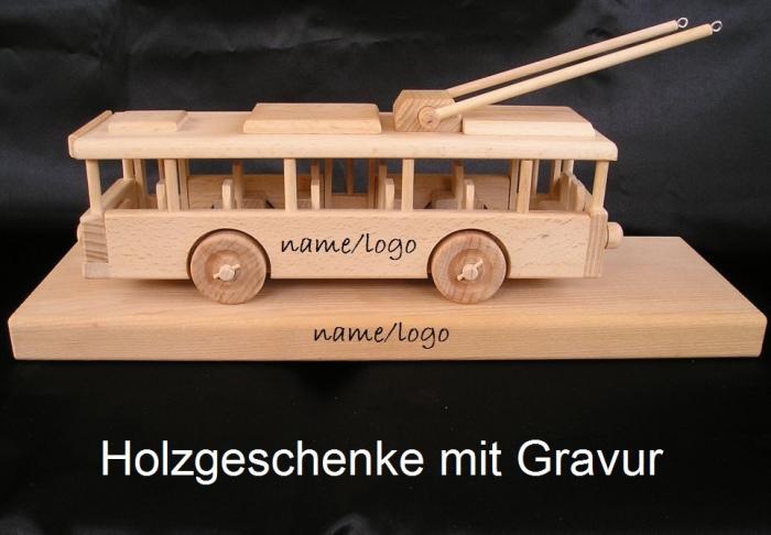 Trolley Holzspielzeug mit Gravur