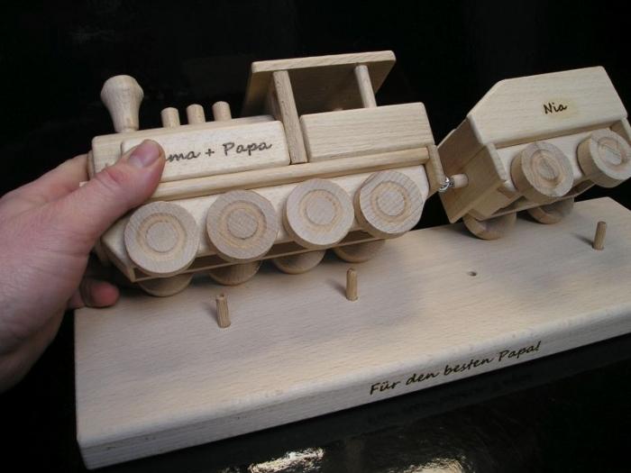 Geschenk für Fahrerlokomotive, Zug mit Text