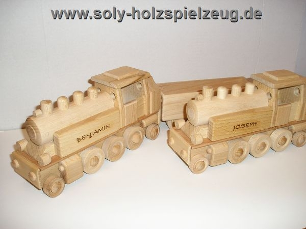 Dampf Lok Spielzeug aus Holz