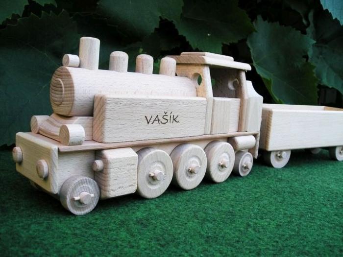 Dampf-lok Spielzeug mit Gravur