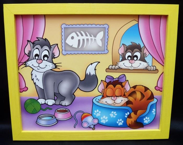 Miezekatze-dekoration-bilder-fur-kinderzimmer