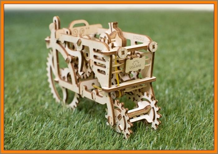 3D Holzpuzzle TRAKTOR mechanisches Baukasten