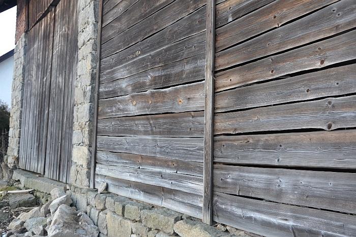 Holzrahmen mit Patina