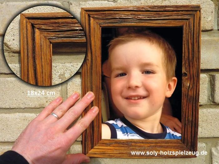 18x24 cm Fotorahmen aus Holz, natur