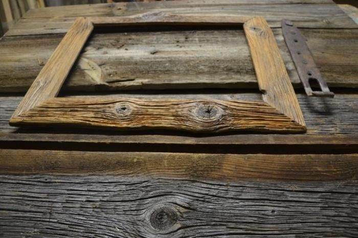 Handmade Fotorahmen aus Holz, natur