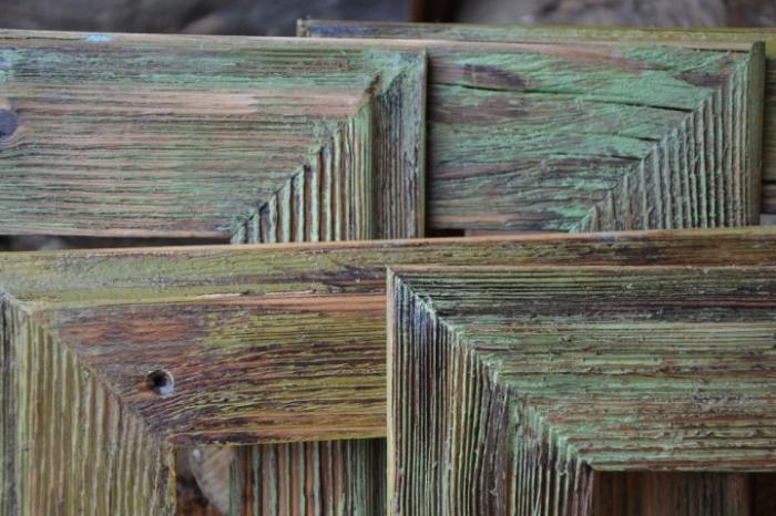 Patina. Fotorahmen aus Holz