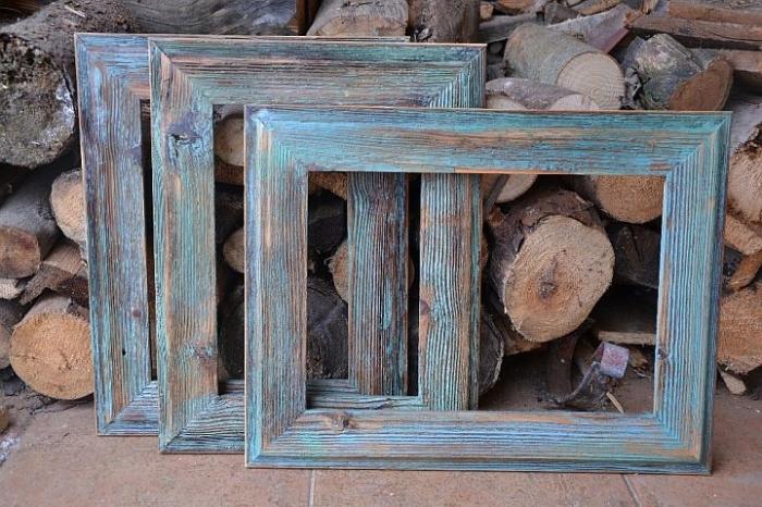 Blue Bilderrahmen aus Holz