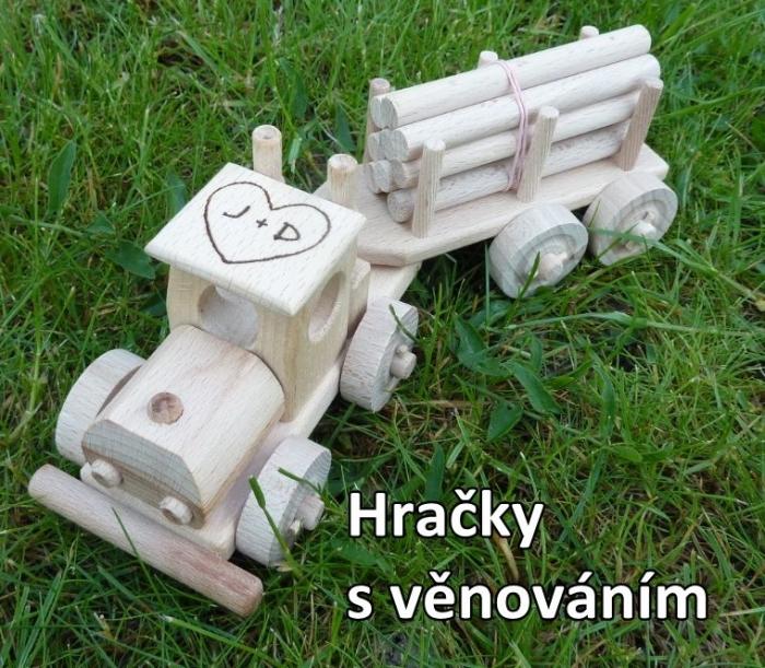 LKW-Spielzeug mit Gravur Text