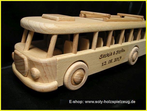 Bus Holz Geschenk für Fahrer mit Text