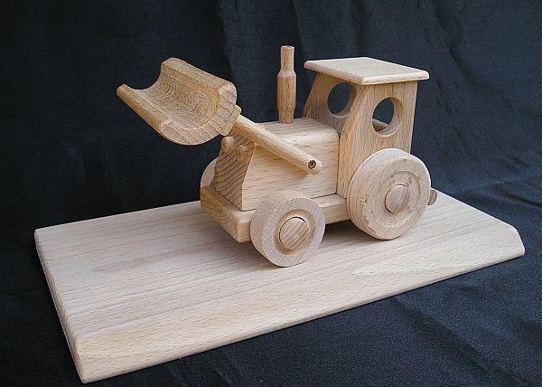 Traktor Holz Spielzeug aus Sockel aus Holz