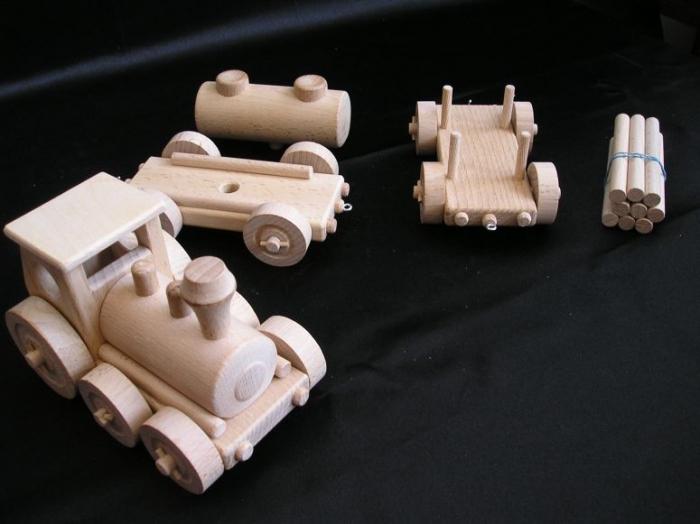 Holz Guterzug Spielzeug