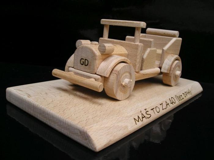 Auto Veteran Holz Geschenk