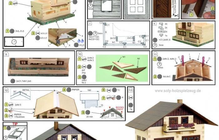 Anweisungen zu bauen Alpenhaus Baukasten