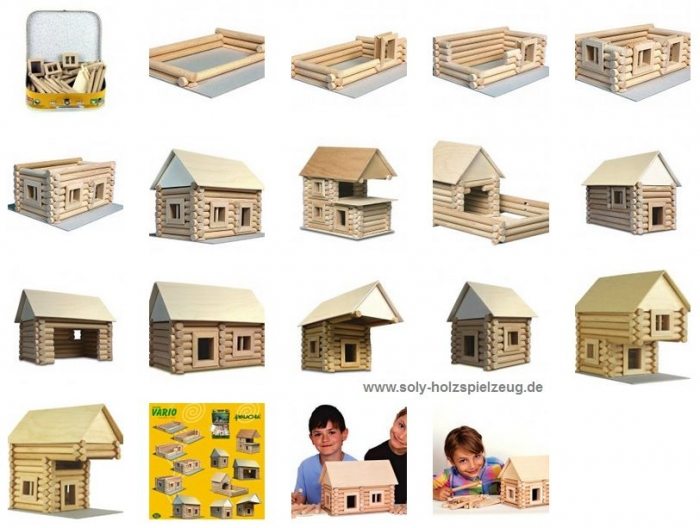 Holz-modellhaus basteln