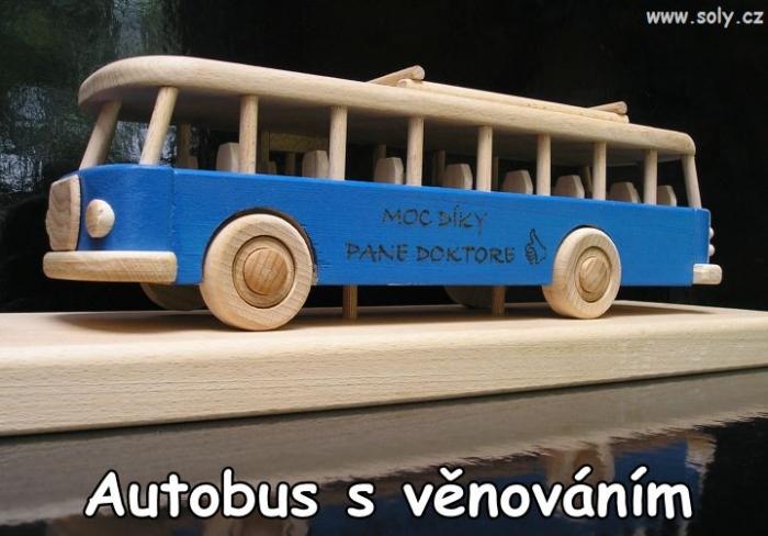 Bus - Blau Spielzeug mit Deckel