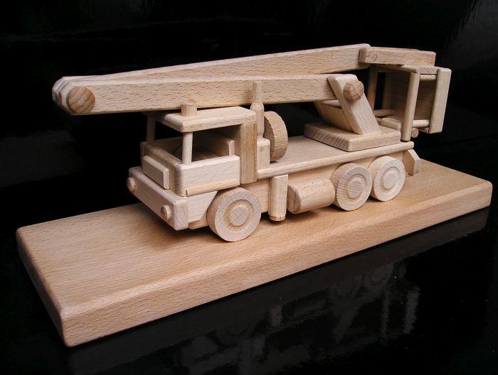 Hebebühne Spielzeug Holz
