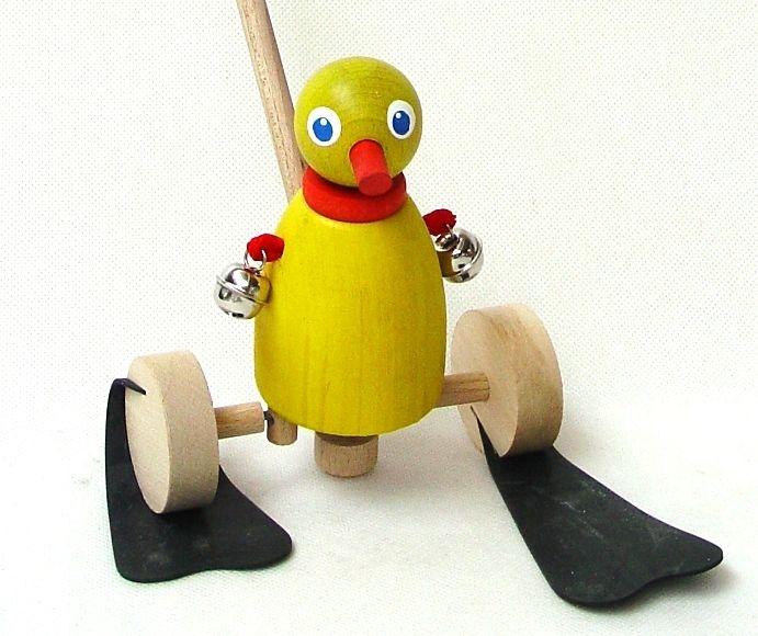Ente aus Holz Spielzeug für Kinder.