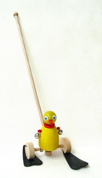 Ente aus Holzspielzeug für Kinder