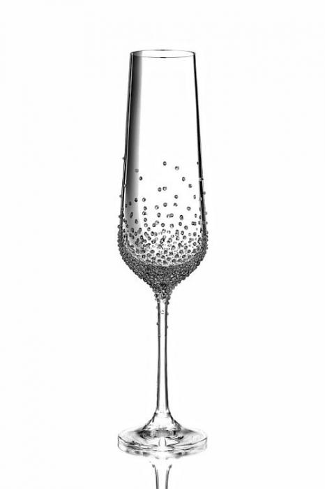 Champagnerglas mit Swarovski-Kristallen