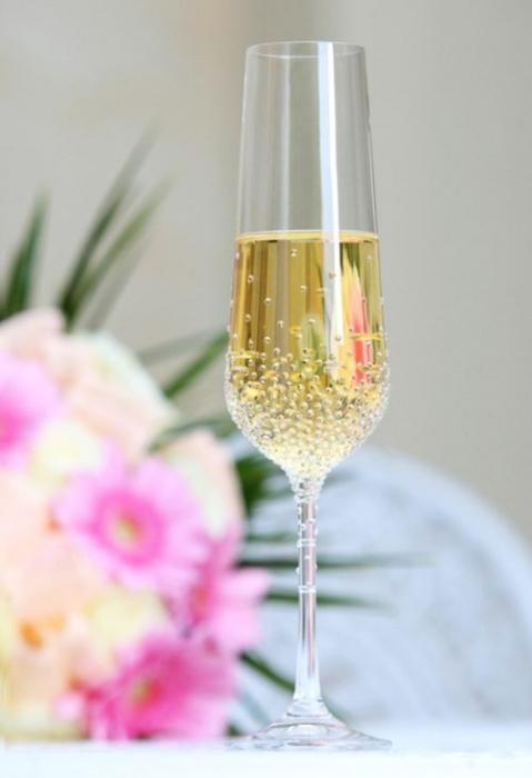 Sektglas 1 Stk mit Swarovski-Kristallen Hochzeitsgeschen