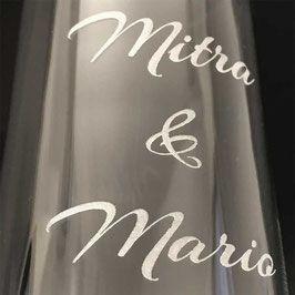 Sektglas Swarovski-Kristallen Hochzeitsgeschen