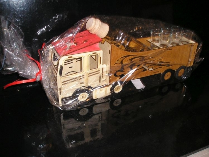 Geschenken für LKW-Fahrer Geburtstags Flasche