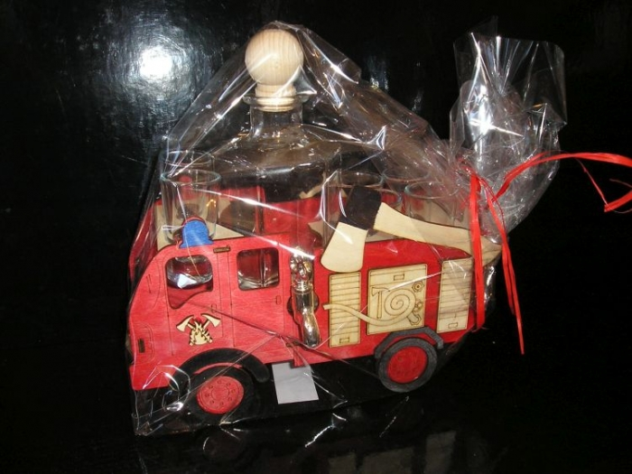 Feuerwehrmann Geschenk Geburtstag Flasche