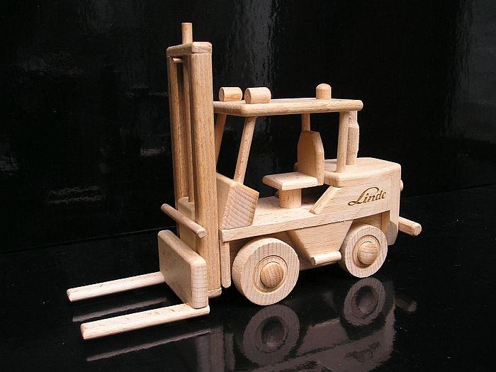 Holz Gabelstapler für Kinder Spielzeug Geschenk