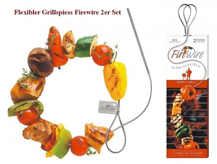 Flexibler Grillspiess Firewire 2er Set