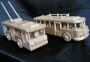 Trolley + Bus holz-Modelle