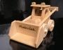 Bulldozer Spielzeug aus Holz Geschenke