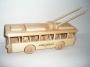 O-Bus aus Holz Holzspielzeuge