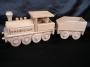 Lokomotive Spielzeug aus Holz mit Gravur Name