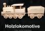 Holzlokomotive Namenszug aus Holz