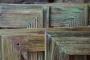 Blue Bilderrahmen aus altem Holz