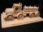 Forstwagen und Anhänger