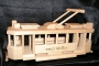 Die historische Straßenbahn Spielzeug aus Holz