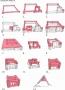 Blockhaus Baukästen für 20 Arten von Gebäuden