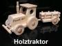 Klein Spielzeug Traktor aus Holz mit der Name