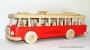 Roten Bus Spielzeug Geschenk aus Holz