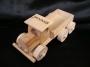 Klein historical LKW Spielzeug aus Holz mit Gravur Name