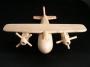bomber-holzflugzeug-modells